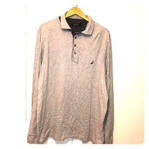 Nautica Men's 5 button long sleeve polo shirt